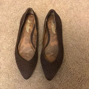 Lucky Brand brown studded flats